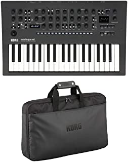 Korg minilogue xd Polyphonic Analog Synthesizer with Prologue MULTI Engine, Expanded Sequencer, 3X Multi-Effects, X/Y Joystick and CV INs - With Korg Custom Case