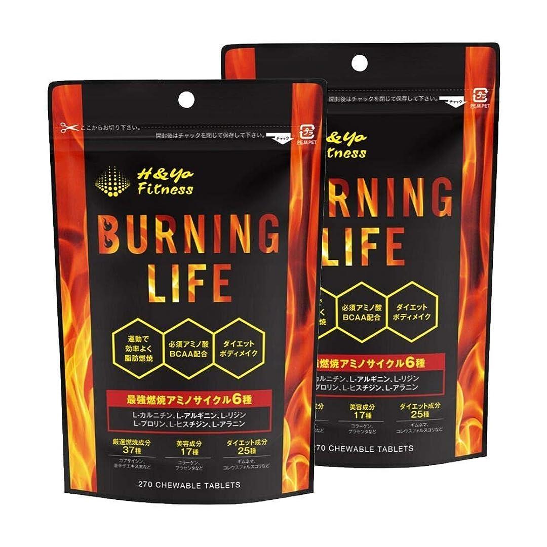 甘くする暗黙ジーンズBURNING LIFE 燃焼系ダイエットサプリ L-カルニチン 必須アミノ酸BCAA配合 運動時の燃焼を強力サポート 270粒 (2か月分)
