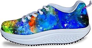 FOR U DESIGNS Fashion Women's Swing Strength Fitness Walking Sneaker Platform Shoes