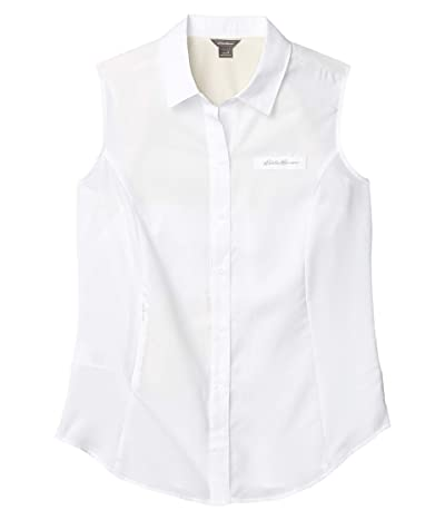 Eddie Bauer Sleeveless Guide Shirt (White) Women
