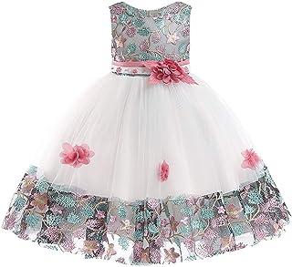 K-youth Vestidos De Fiesta para Niñas Elegantes Vestidos para Niñas Bebes Ropa Niña Tutú Princesa Bordado Flor Encaje Vest...