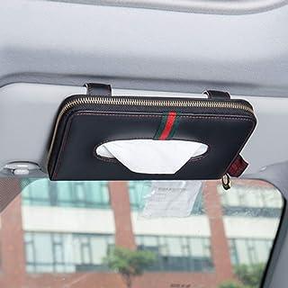 Taschentuchbox für das Auto, zum Aufhängen, Sonnenblende, Sonnendach, Rückenlehne, kreativer Auto Kartonablage, Schutzhülle, PU Leder, Papierhandtuchhalter, Serviettenhalter, Heimbüro, Auto Dekoration