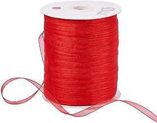 Best red organza ribbon Reviews