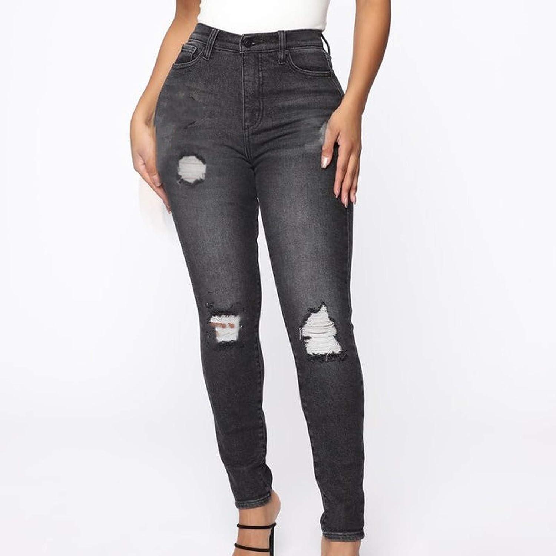 Skinny Jeans for Women Butt Lift Ripped High Waist Leggings Jeans Long Distressed Denim Pants