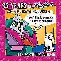 TF PUBLISHING 2021 35年のお祝い用 マクシン月間壁掛けカレンダー - アーティストジョン・ワグナー - ノート用スペース - ホーム/オフィスプランニング - マット 12x12インチ