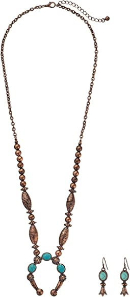 M&F Western Beaded Squash Blossom Necklace/Earrings Set