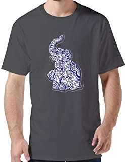 ZYXcustom DIY Elephant T-Shirt for Men