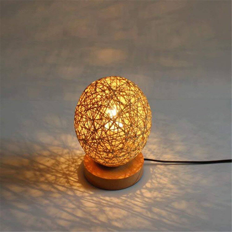 Zhang Ying ZY  Nordic Einfache Massivholz Seasame Ball Schreibtischlampen LED Tischlampe Lesepult Schlafzimmer Nachttischlampe Nachtlicht