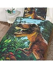 Jurassic T-Rex Enkelt påslakan och örngott set