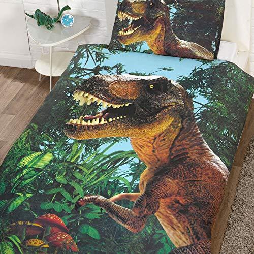 Jurassic T-Rex - Juego de fundas de edredón y almohadas - diseño exclusivo