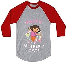 Dora The Explorer Happy Mother's Day 3/4 Sleeve Baseball Jersey Toddler Shirt
