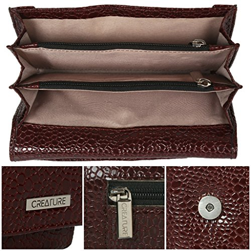 CREATURE Women's Maroon Clutch,wallet With Multiple Card Slot (CL-01)…