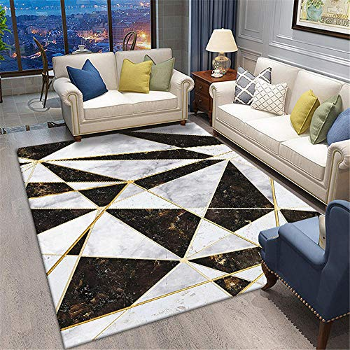 Rugs Carpets Marble rug bedroom and living room carpet soft and non-slip Carpet Rugs For Living Room Rugs Bedroom Large Black 160X230CM