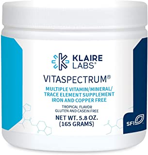 Klaire Labs VitaSpectrum Powder - Children's Multivitamin/Mineral with 23 Essential Nutrients, Tropical Flavor for Kids, N...