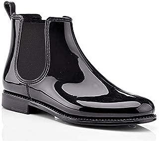 Henry Ferrera Women's Ankle Rain Boots with Elastic Design