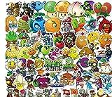 ZJJHX Plantas vs.Pegatinas de Zombies Pegatinas de recompensa para niños Teléfono móvil Taza de Agua Cuaderno Pegatinas de Dibujos Animados a Prueba de Agua 100 Hojas