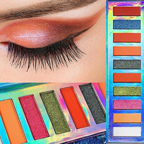 Coloré(TM) Palettes de maquillage Paillettes Poudre Ombre Palette de paillettes d'ombres à paupières de Shimmer Maquillage cosmétique d'ombres à paupières mat