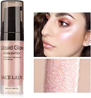 SACE LADY Liquid Highlighter Makeup Shimmer And Shine Ultra-Smooth Radiant Illuminator For Face Cheekbone Body Glow Bronzer Glitter Illuminating Highlighters Makeups