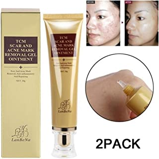 Jeeke 2pc Scar and Acne Marks Removal Gel, Acne Scar Removal Cream Skin Repair Face Cream Removing Scar Ointment for Face and Body, 30ml
