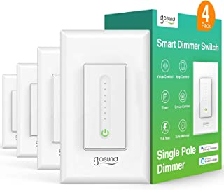 Smart Dimmer Switches, Wi-Fi Light Switch Works with Alexa Google Home, Single Pole, Timer Function,App Remote Control, ET...
