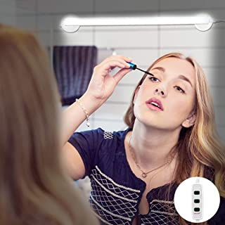 LED Vanity Mirror Light, Portable Vanity Lights Mirror Makeup Light Bathroom Lighting Kit with Brightness Adjustable, Cable Controller, 360 Degree Rotation and USB Powered Cosmetic Lamp