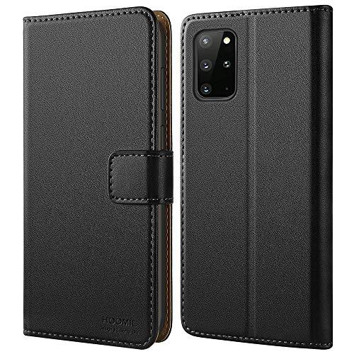 HOOMIL Handyhülle für Samsung Galaxy S20 Plus Hülle Leder Tasche Flip Hülle Schutzhülle Kompatibel mit Samsung S20 Plus Hülle Schwarz