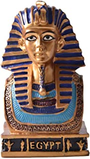 Statues and Sculptures Outdoor Decor for Garden,Abstract Egyptian Pharaoh Sculpture for Handmade Resin Figurines Crafts De...