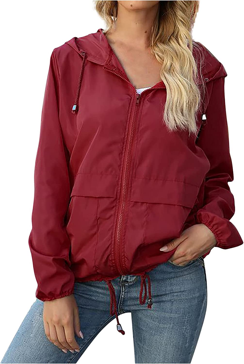 Kanzd Raincoat Max 59% OFF for Women Fashion L Direct store Long Sleeve Hooded Waterproof