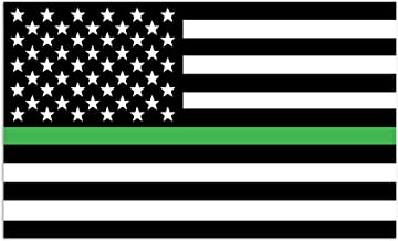 Mind Your Magnets American Flag Car Magnet - Thin Green Line - Army, Border Patrol, Military Police Flags