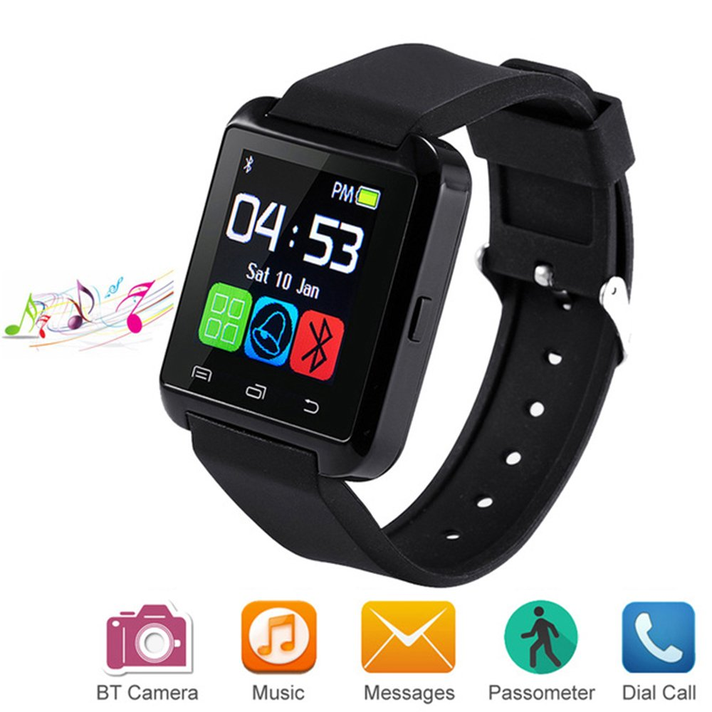 Letopro Smartwatch Bluetooth Reloj Inteligente Android iOS, Smart Watch Teléfono Inteligente De Pulsera con Pódometro/Contador de Calorias, Fitness Tracker para ios android phone(Negro): Amazon.es: Electrónica