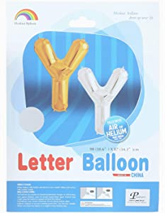 Mcolour Balloon Letter Y Shaped Helium Balloon - Silver
