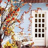 400 Stück Künstliche Ahornblätter Herbstlaub Kunst Farben Simulation Ahornblatt Perfekte Herbst Dekoration,Herbst Hochzeit Dekorationen-4 Farben - 2
