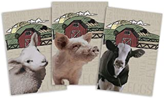 3-Pack Medium Journals | Barnyard Animals: Sheep, Cow, Pig IdeaBooks (5.5 by 8.5 Inches)