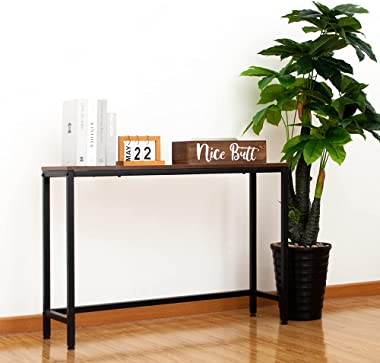 AZL1 Life Concept Console Table, Sofa Table for Living Room,Hallway,Entryway, Entrance Hall, Corridor - Wood Look Metal Frame