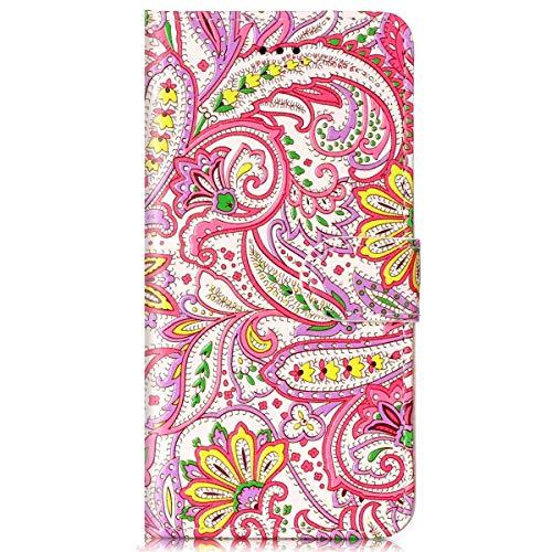 Surakey Funda Compatible para Samsung Galaxy S8 Plus Funda Tipo Libro Piel Case Cover Carcasa Cartera Ultrafina con Cierre Magnético Funda Protectora Libro de Cuero con Tapa,Flor de chile MM