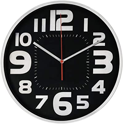 Hama Emotion Wall Clock, Diameter 30 cm, Quiet, Grey, Silver, One Size
