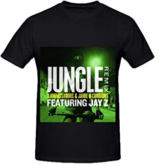 Snowl X Ambassadors Jungle Remix Feat Jay Z Tour Pop Mens Crew Neck Music Tee Shirts