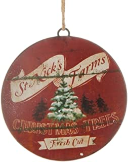 Metal Country Christmas Disc Ornament 6