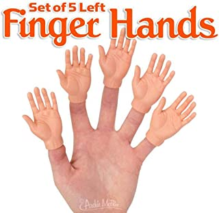 Set of Five Rubber Finger Hands in Box