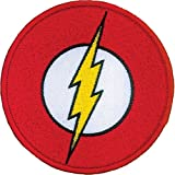 Ata-Boy DC Comics The Flash Logo 3' Full Color Embroidery Iron-On Patch