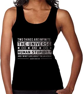 Two Things are Infinite Albert Einstein Quote Women's Vest