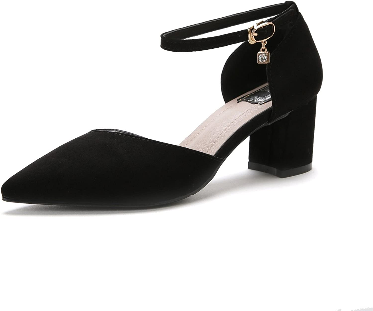 shoesmaker's heart Pointed High-Heeled shoes New Words with Baotou Sandals Coarse Heel