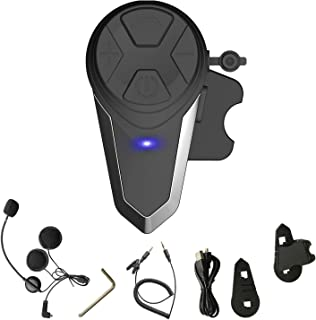 Yideng Bluetooth Headset Motorcycle Helmet BT-S3 1000m Full-Duplex Bluetooth 3.0 Intercom Interphone Sik Communication System Speakers Headphones for Motorbike Ski Helmet Up to 3 Riders (1 Pack)