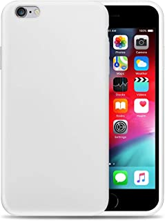 Compatible with Apple iPhone 6P Liquid Silicone Phone Case Gel Rubber Full Body Protection Shockproof Cover Case Drop Protection for Apple iPhone 6P White