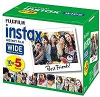 FUJIFILM インスタントカメラ ワイド用フィルム 50枚入 INSTAX WIDE K R 5