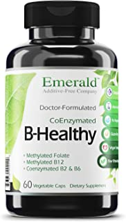 B Healthy - with L-5 Methyltetrahydrofolate (5-MTHF) Coenzymated Folic Acid - Helps Improve Energy, Lower Stress, Fatigue,...
