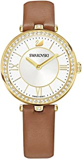 Swarovski Aila Dressy Lady Watch - Leather Strap - Brown - Gold Tone - 5376645