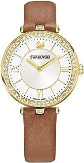 Swarovski Aila Dressy Lady Watch - Leather Strap - Brown - Gold Tone - 5376645