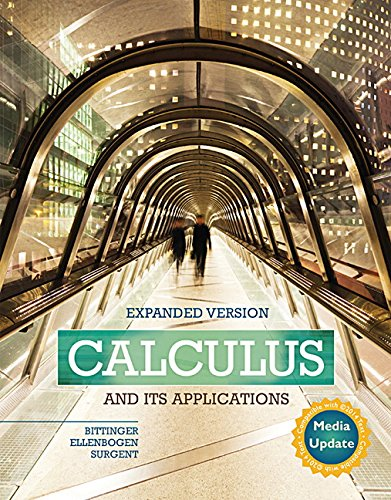 Calculus and Its Applications Expanded Version Media Update Plus MyLab Math -- Access Card Package (Bittinger, Ellenboge