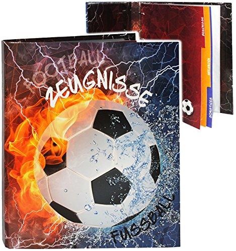 alles-meine.de GmbH A4 - Ringbuch / Zeugnisringbuch -  Zeugnisse  _  Fußball  - incl. Einsteckseiten & Einlagen -  z.B. Urkunden  - ERWEITERBAR / Ordner - Sammelordner - Ze..